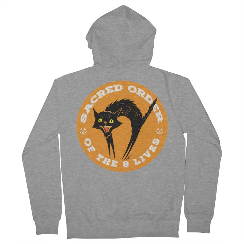 Sacred Order of the 9 Lives Men's French Terry Zip-Up Hoody by Nick the Hat