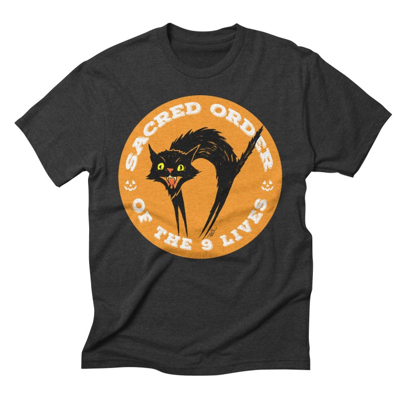 Sacred Order of the 9 Lives Men's Triblend T-Shirt by Nick the Hat