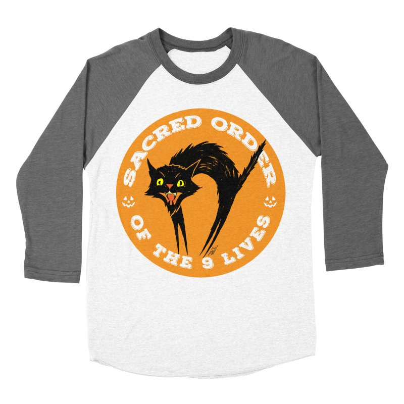 Sacred Order of the 9 Lives Women's Baseball Triblend Longsleeve T-Shirt by Nick the Hat