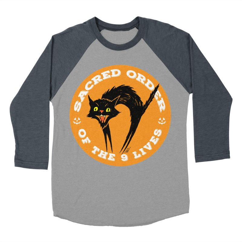 Sacred Order of the 9 Lives Men's Baseball Triblend Longsleeve T-Shirt by Nick the Hat