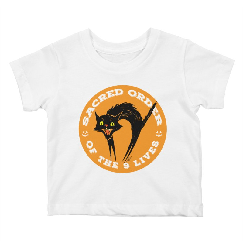 Sacred Order of the 9 Lives Kids Baby T-Shirt by Nick the Hat