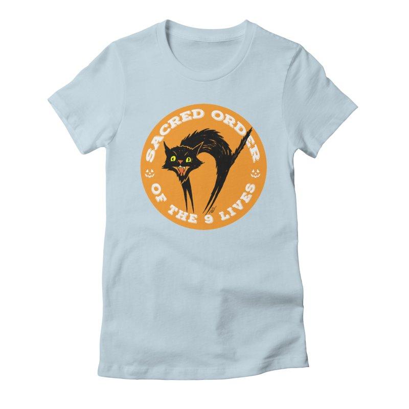 Sacred Order of the 9 Lives Women's T-Shirt by Nick the Hat