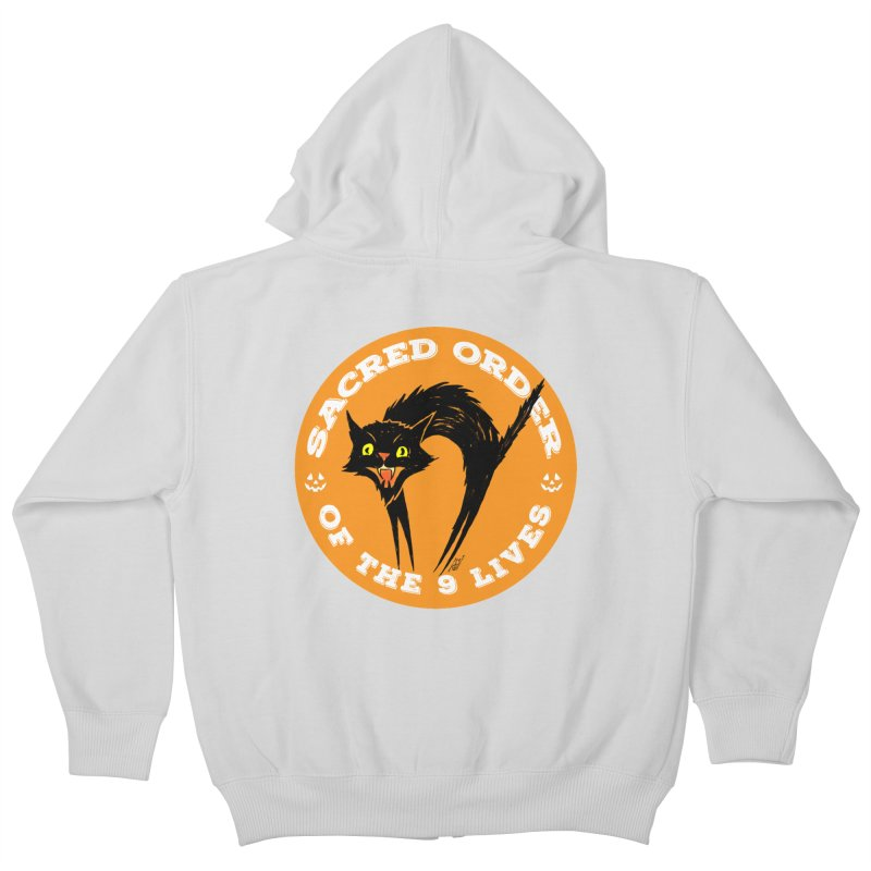 Sacred Order of the 9 Lives Kids Zip-Up Hoody by Nick the Hat