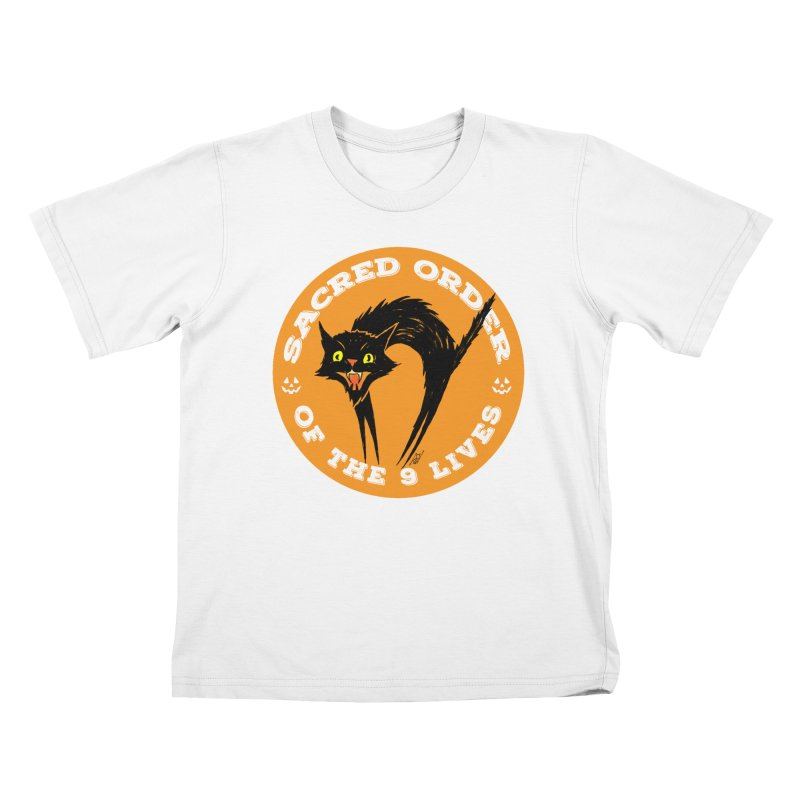Sacred Order of the 9 Lives Kids T-Shirt by Nick the Hat