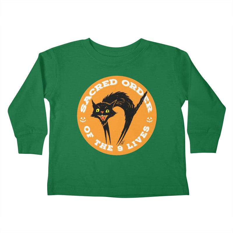 Sacred Order of the 9 Lives Kids Toddler Longsleeve T-Shirt by Nick the Hat