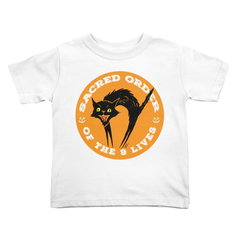 Sacred Order of the 9 Lives Kids Toddler T-Shirt by Nick the Hat