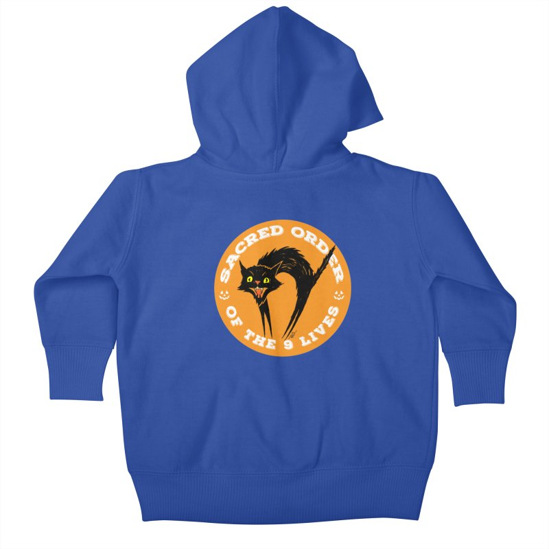 Sacred Order of the 9 Lives Kids Baby Zip-Up Hoody by Nick the Hat