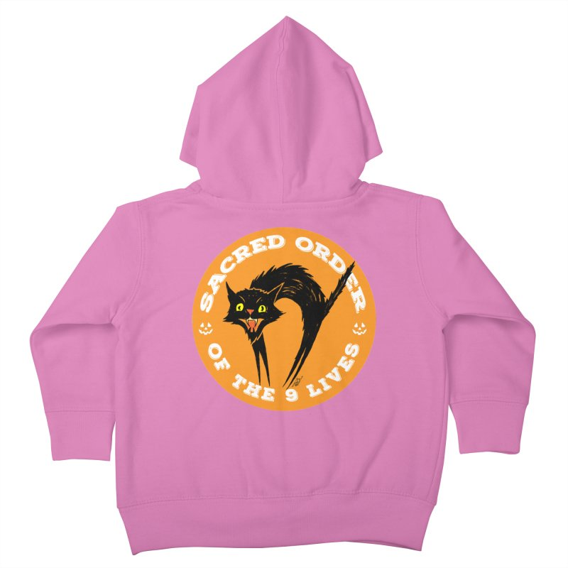 Sacred Order of the 9 Lives Kids Toddler Zip-Up Hoody by Nick the Hat