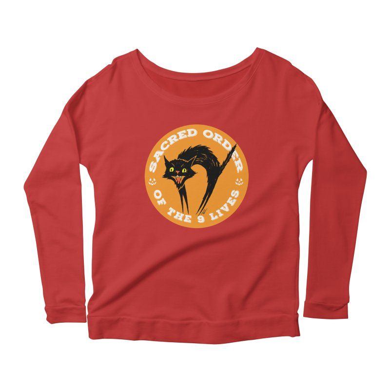 Sacred Order of the 9 Lives Women's Longsleeve Scoopneck  by Nick the Hat