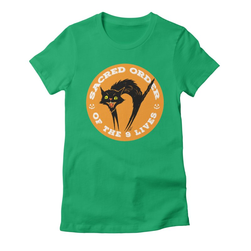 Sacred Order of the 9 Lives Women's Fitted T-Shirt by Nick the Hat