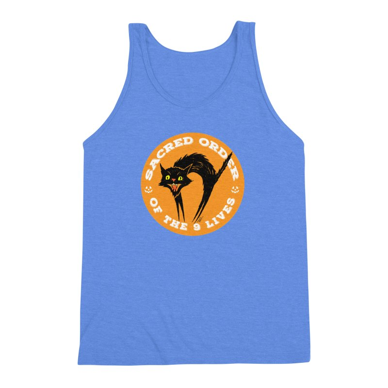 Sacred Order of the 9 Lives Men's Triblend Tank by Nick the Hat