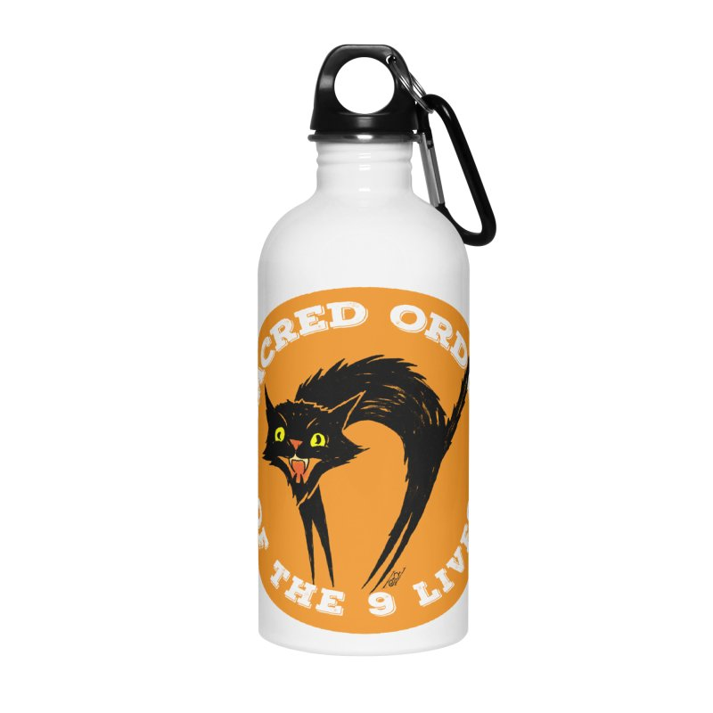 Sacred Order of the 9 Lives Accessories Water Bottle by Nick the Hat