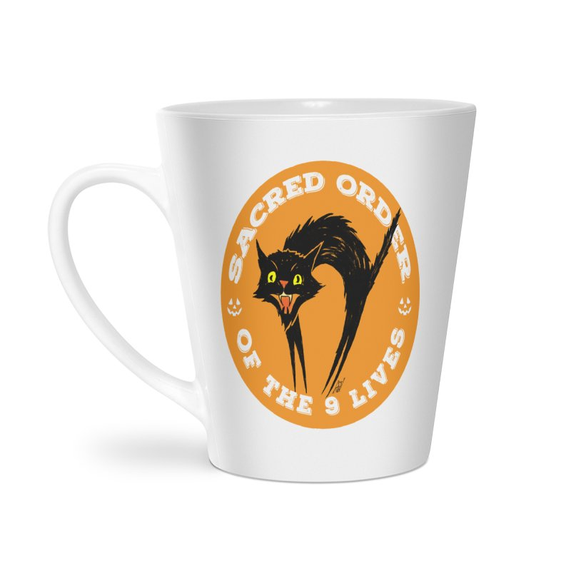 Sacred Order of the 9 Lives Accessories Latte Mug by Nick the Hat