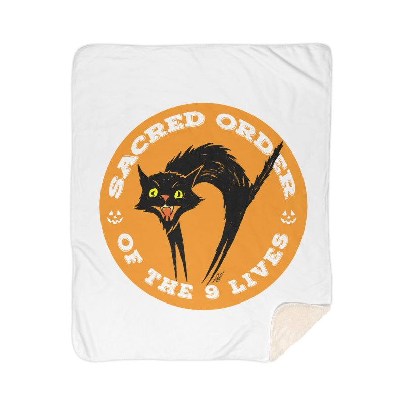 Sacred Order of the 9 Lives Home Sherpa Blanket Blanket by Nick the Hat