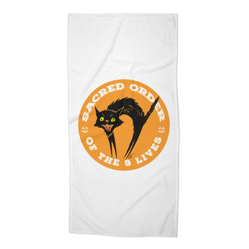 Sacred Order of the 9 Lives Accessories Beach Towel by Nick the Hat