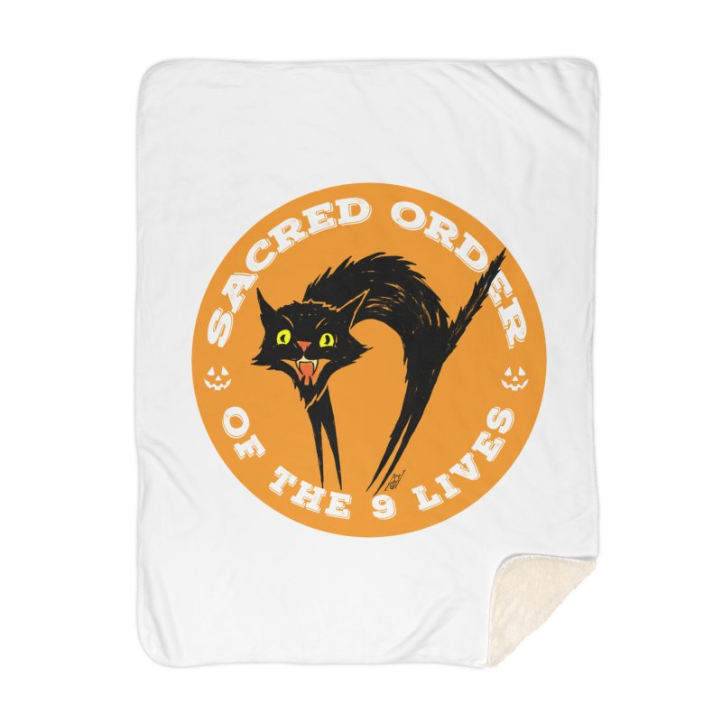 Sacred Order of the 9 Lives Home Blanket by Nick the Hat