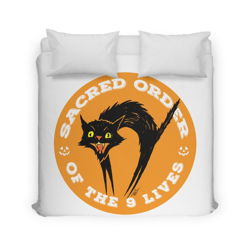 Sacred Order of the 9 Lives Home Duvet by Nick the Hat