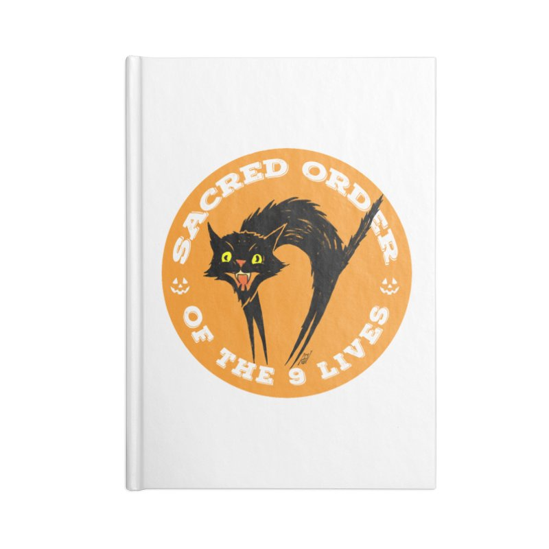 Sacred Order of the 9 Lives Accessories Blank Journal Notebook by Nick the Hat