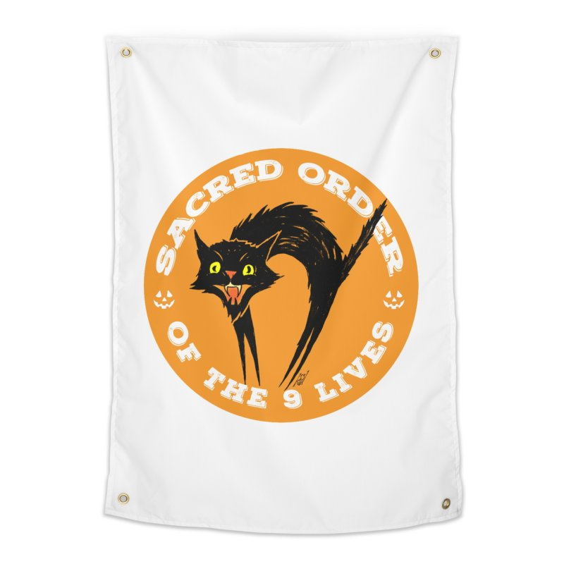 Sacred Order of the 9 Lives Home Tapestry by Nick the Hat