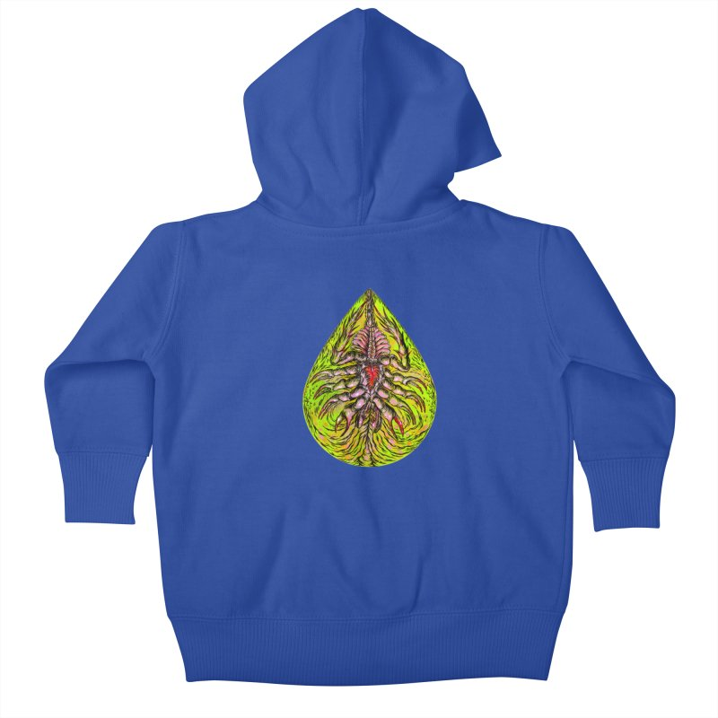 Scrambly Amebocyte Kids Baby Zip-Up Hoody by Nick the Hat