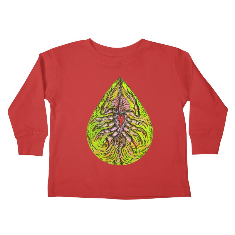 Scrambly Amebocyte Kids Toddler Longsleeve T-Shirt by Nick the Hat