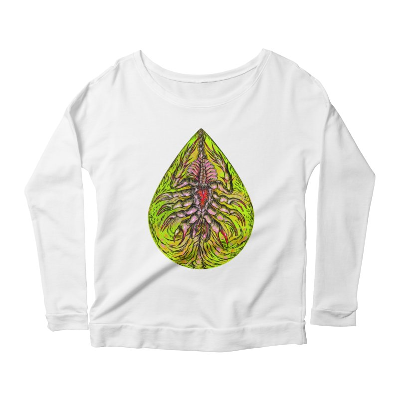 Scrambly Amebocyte Women's Scoop Neck Longsleeve T-Shirt by Nick the Hat