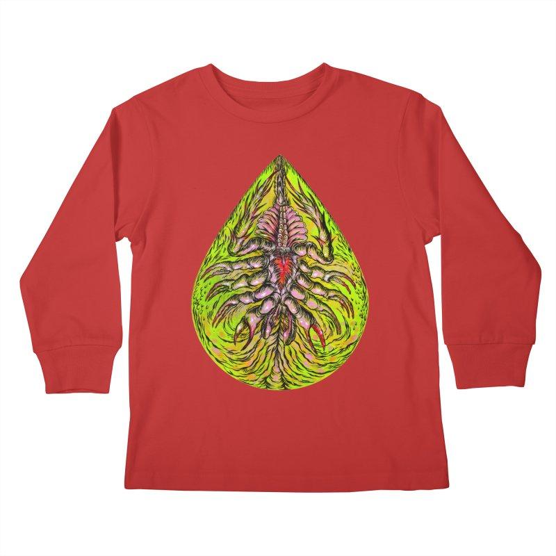 Scrambly Amebocyte Kids Longsleeve T-Shirt by Nick the Hat