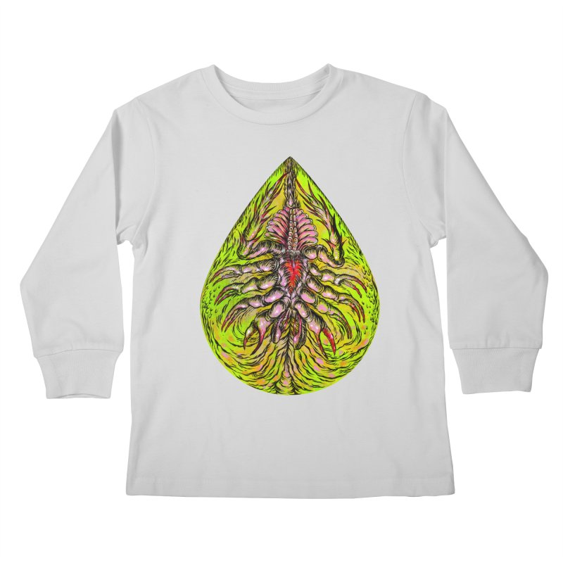 Scrambly Amebocyte Kids Longsleeve T-Shirt by Nick the Hat
