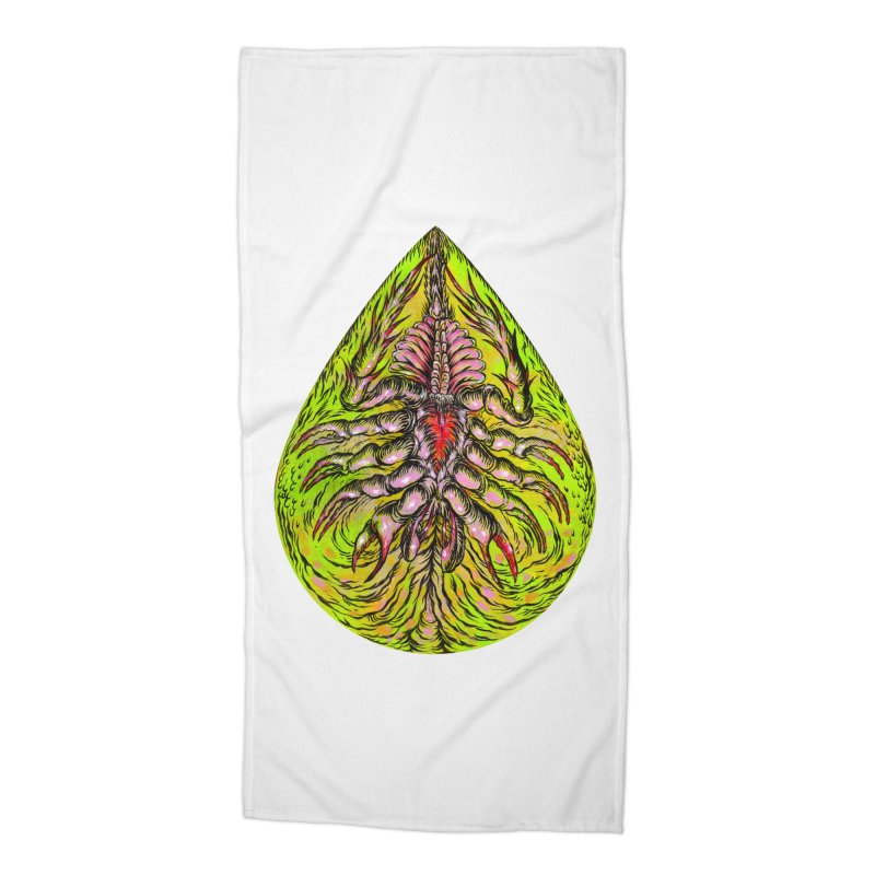 Scrambly Amebocyte Accessories Beach Towel by Nick the Hat