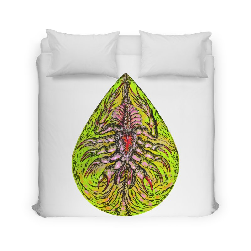 Scrambly Amebocyte Home Duvet by Nick the Hat