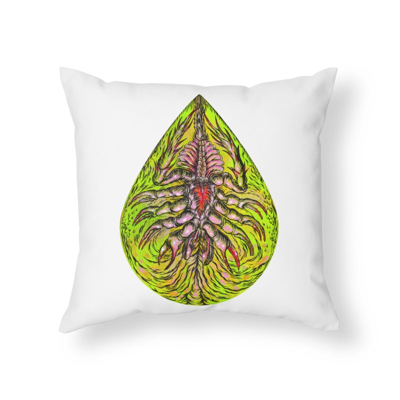 Scrambly Amebocyte Home Throw Pillow by Nick the Hat