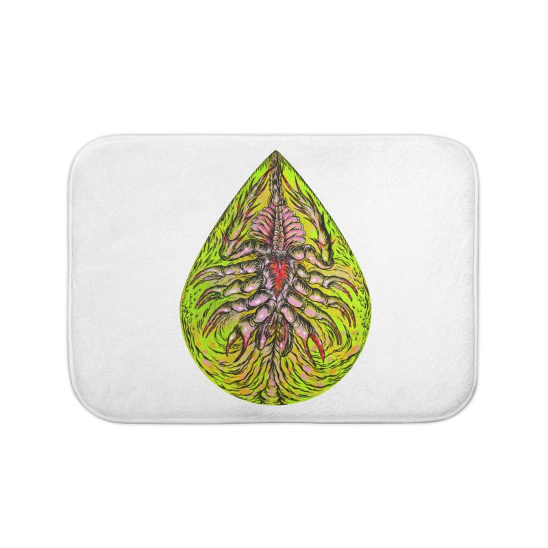 Scrambly Amebocyte Home Bath Mat by Nick the Hat