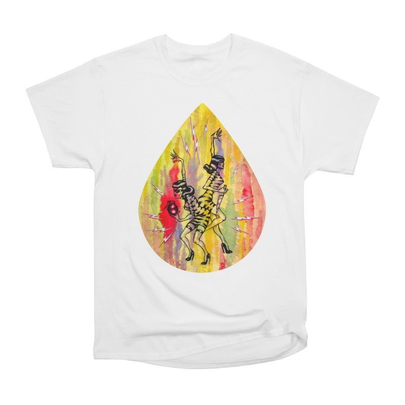 Danger Dames Men's Heavyweight T-Shirt by Nick the Hat