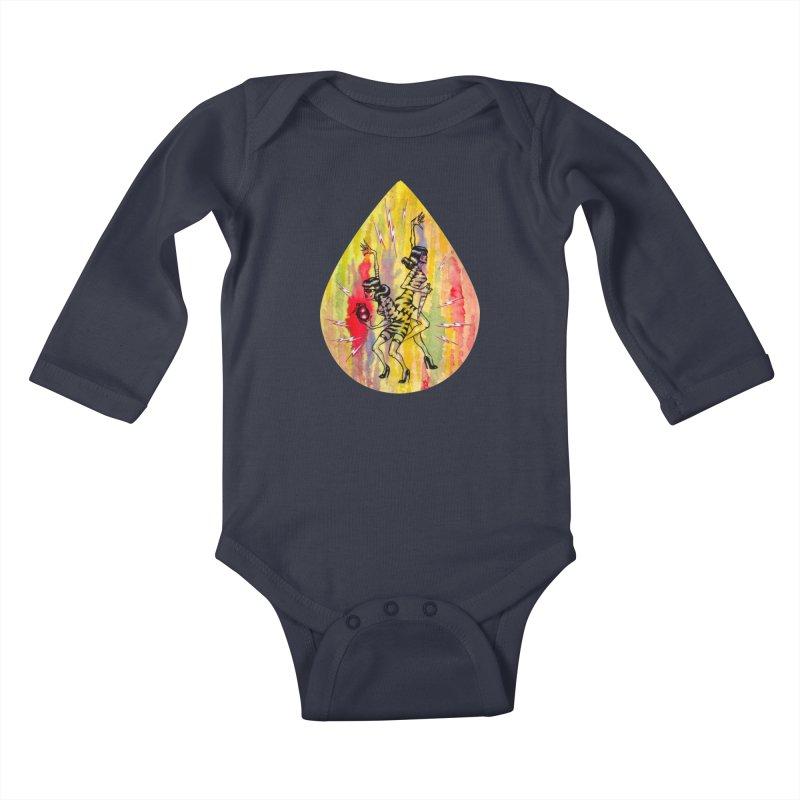 Danger Dames Kids Baby Longsleeve Bodysuit by Nick the Hat