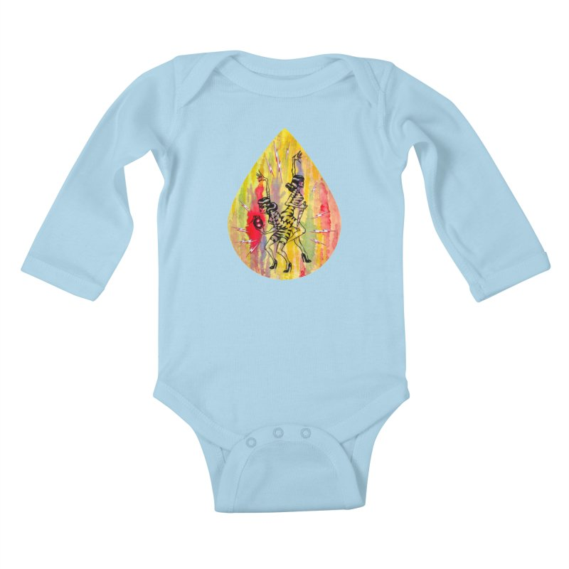 Danger Dames Kids Baby Longsleeve Bodysuit by Nick the Hat