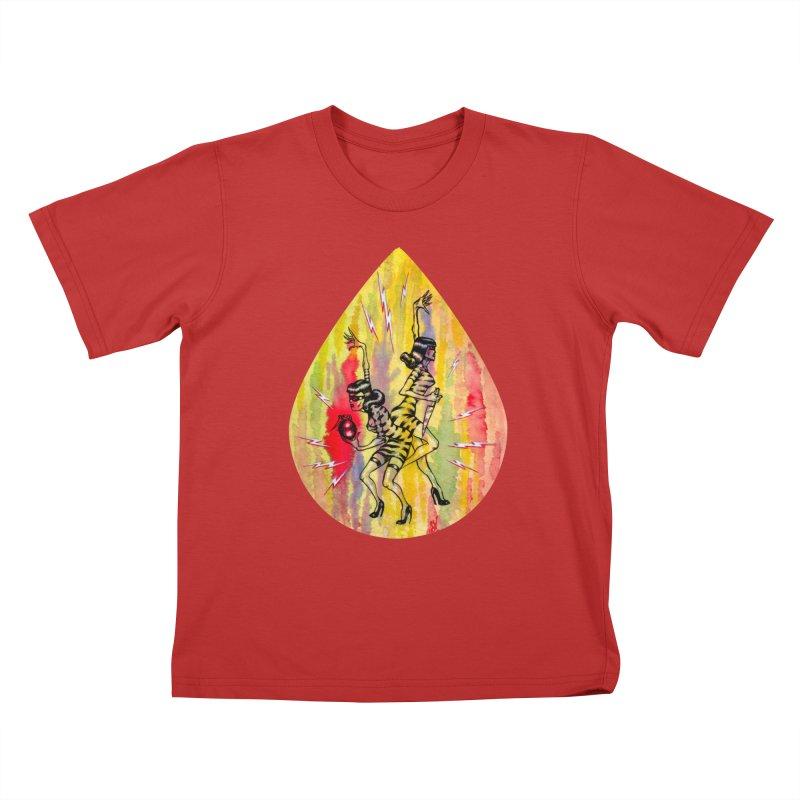 Danger Dames Kids T-Shirt by Nick the Hat