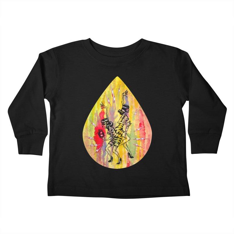 Danger Dames Kids Toddler Longsleeve T-Shirt by Nick the Hat