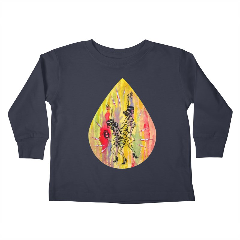 Danger Dames Kids Toddler Longsleeve T-Shirt by Nick the Hat