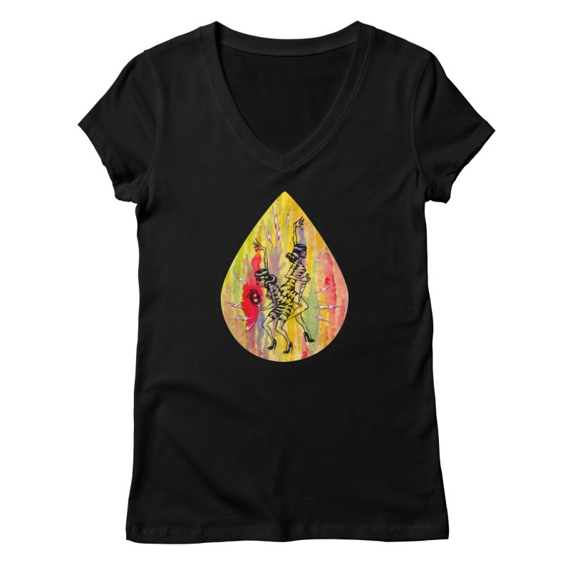 Danger Dames Women's V-Neck by Nick the Hat