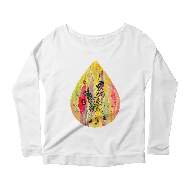 Danger Dames Women's Scoop Neck Longsleeve T-Shirt by Nick the Hat