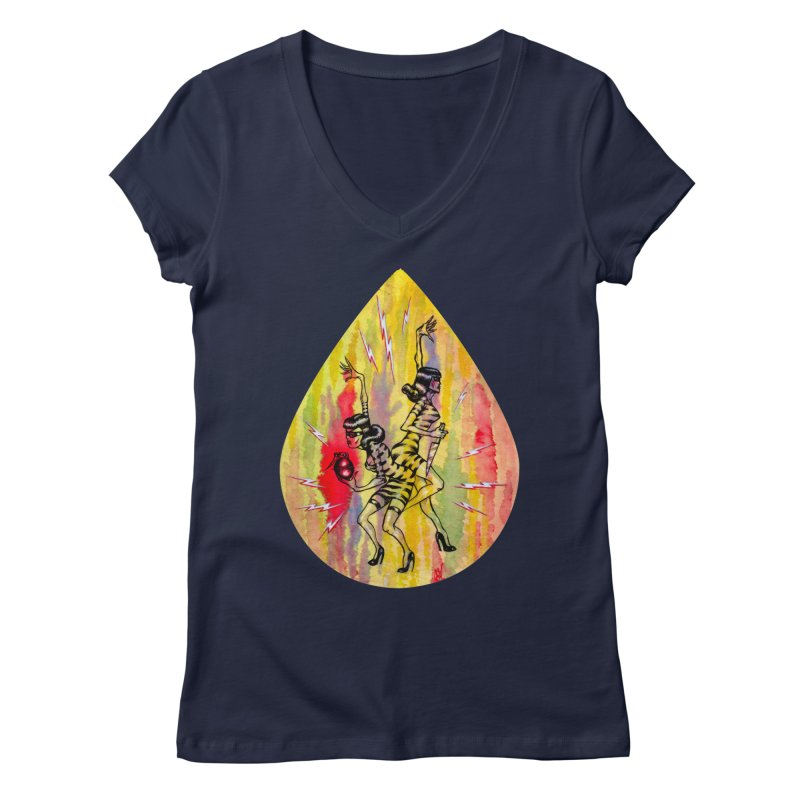 Danger Dames Women's Regular V-Neck by Nick the Hat