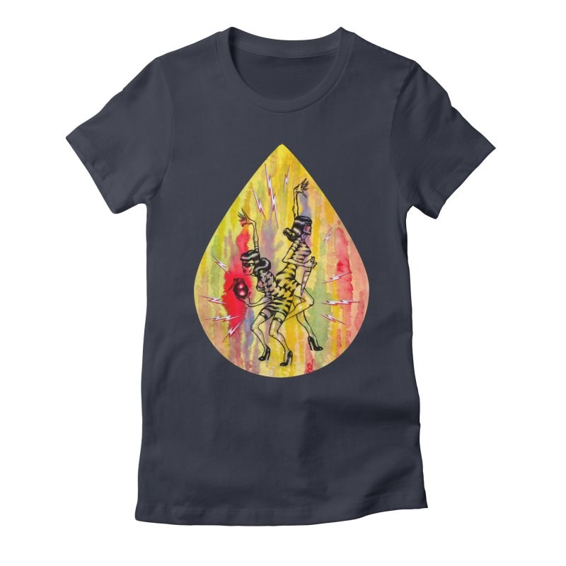 Danger Dames Women's Fitted T-Shirt by Nick the Hat