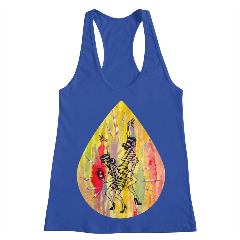Danger Dames Women's Racerback Tank by Nick the Hat