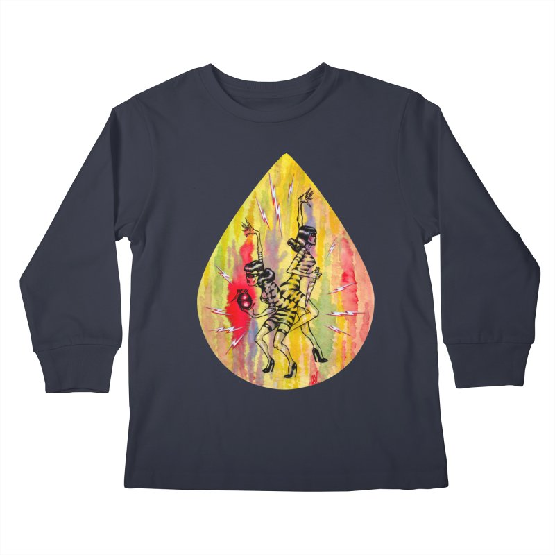 Danger Dames Kids Longsleeve T-Shirt by Nick the Hat