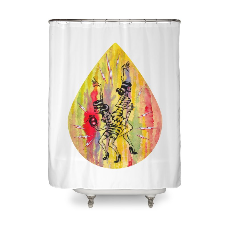Danger Dames Home Shower Curtain by Nick the Hat
