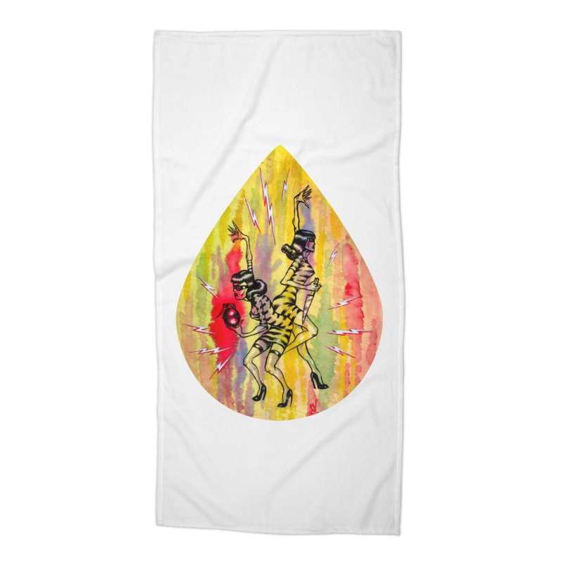 Danger Dames Accessories Beach Towel by Nick the Hat