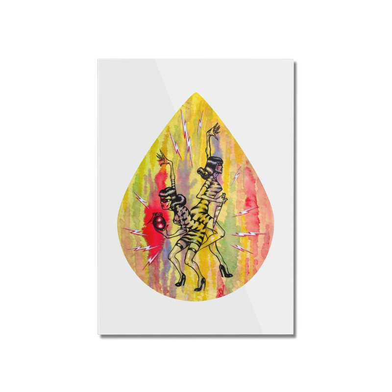 Danger Dames Home Mounted Acrylic Print by Nick the Hat