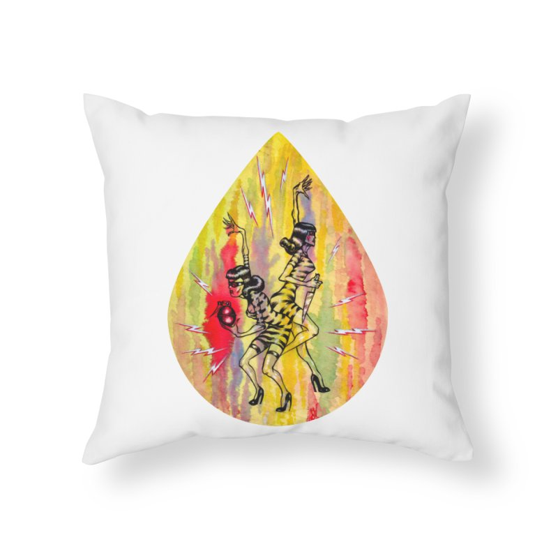 Danger Dames Home Throw Pillow by Nick the Hat