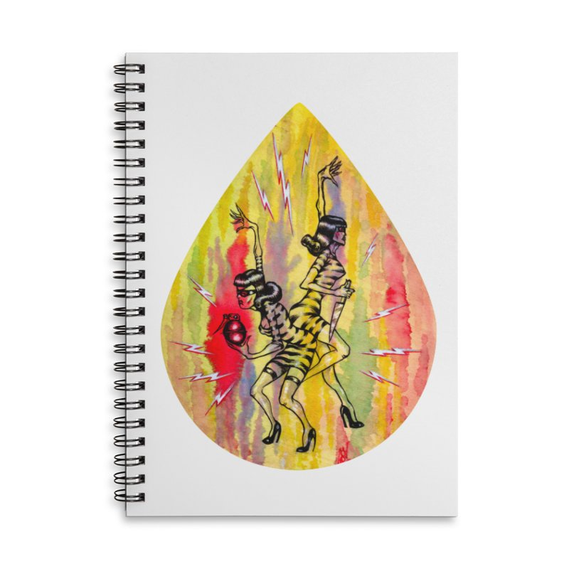 Danger Dames Accessories Lined Spiral Notebook by Nick the Hat