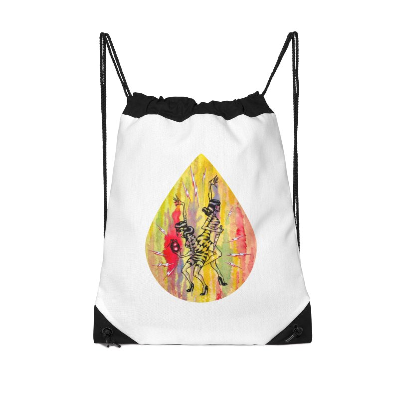 Danger Dames Accessories Drawstring Bag Bag by Nick the Hat